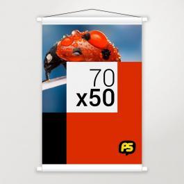 Banner em Lona Lona 280g 70x50cm   Bastão e Corda