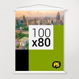 Banner em Lona Lona 280g 100x80cm   Bastão e Corda