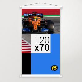 Banner em Lona Lona 280g 120x70cm   Bastão e Corda