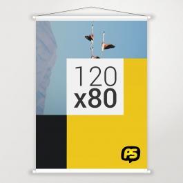 Banner 120x80cm Lona 120x80cm   Bastão e Corda