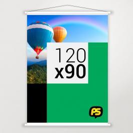 Banner em Lona Lona 280g 120x90cm   Bastão e Corda