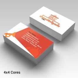 Cartão de Visita Emborrachado Couche 300g 8,8x5,08cm 4x0 Laminação Soft Touch Corte Reto