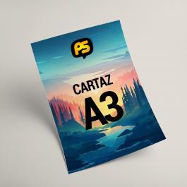 Cartaz A3 Sulfite 75g 42x29,7cm 4x0