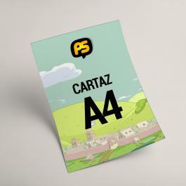 Cartaz A4 Sulfite 75g 29,7x21cm 4x0