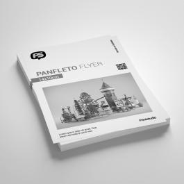 Panfleto A6 Reduzido 14x10cm Papel Offset 75g 14x10cm Frente Preto e Branco - Verso sem impressão Sem Verniz Cantos Retos
