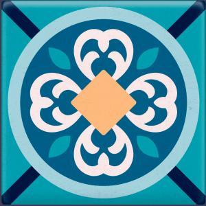 Papel De Parede Adesivo Lavável Azulejo Azul G