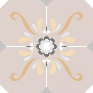Papel De Parede Adesivo Lavável Azulejo Pastel F Vinil Adesivo Fosco 47x260cm 4x0  Nenhum