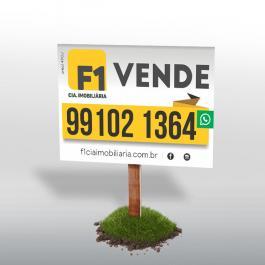 Placa Plástica para Obra ou Imobilária  120x80cm 4x0  Corte Reto