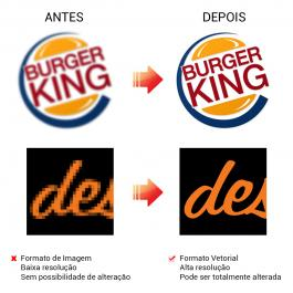 Vetorização de Logomarca  Arte Digital