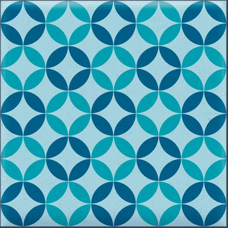 Papel De Parede Adesivo Lavável Azulejo Azul I